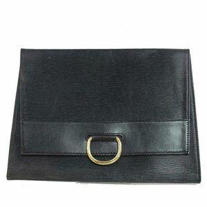 Louis Vuitton  Black Epi Pochette Lena Envelope